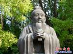中国古代六位文化名人塑像光彩照人