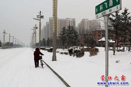 2017新年后营口首场雪降临