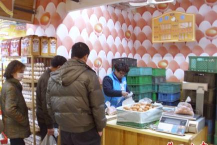 鸡蛋零售价令消费者眉开眼笑