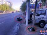 马路丢垃圾  实在不文明