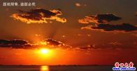 夕陽墜海——遼甯營口