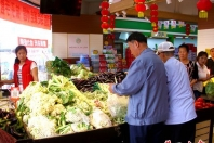 营口青菜零售价进入两元以下时节