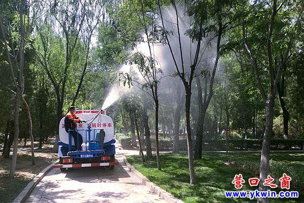 市卫健中心集中开展夏季灭蚊蝇专项行动