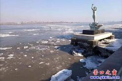营口大辽河:迎着温暖的春风踏步前行!